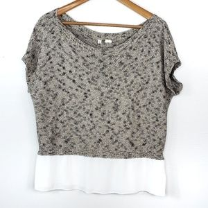 Anthropologie Moth Knit Short Sleeve Blouse
